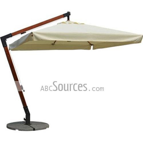 White Canopy Luxurious Hanging Patio Umbrellas