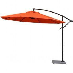 High Quality Orange And Black Patio Canvas Umbrellas Set
