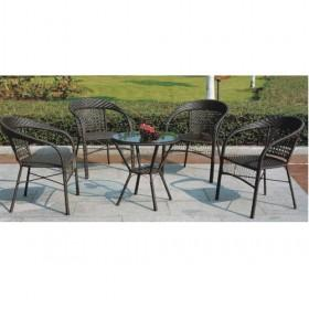 High Quality Round Black Rattan Dining Sets