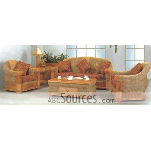 wholesale Top Grade Outdoor Rattan Wicker And Leather Sofa Set ...