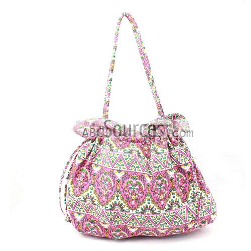 Drawstring Bag Pink Tote Cloth Shoulder Bags