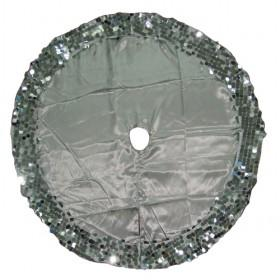 150cm Silver Christmas Tree Skirt With Sequin Decoration, Xmas Tree Skirt 2013