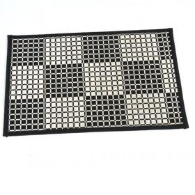 Modern Design Single Square Bamboo Square Black And White Plaid Placemat Table Mats