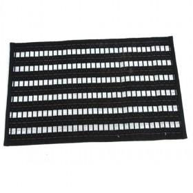 Single Square Bamboo Square Black And White Strips Placemat Table Mats