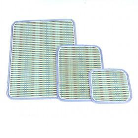 Hot Sale Light Blue Rectangular Bamboo Eco-friendly Placemat Set Of 3