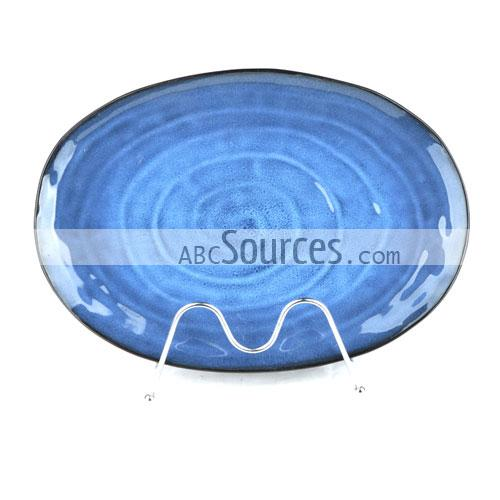 Oval Blue Whirlpools Design Ceramic Plate Dinner Plate Decorative Plates  sc 1 st  Abc Sources & wholesale Oval Blue Whirlpools Design Ceramic Plate Dinner Plate ...