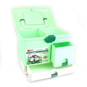 Portable Plastic Multifunction Green Medicine Chest