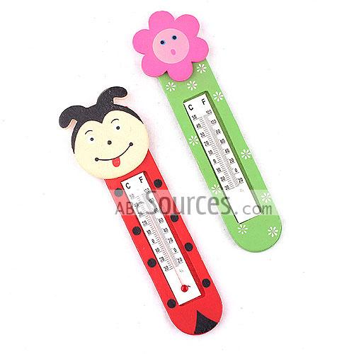 Wholesale Kids Wood Cartoon Thermometer Lc080411264