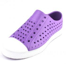 Purple Shoelace Children Garden Shoes