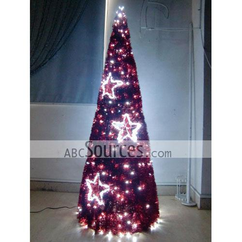 red led christmas tree design with star decorative ornamental outdoor lights