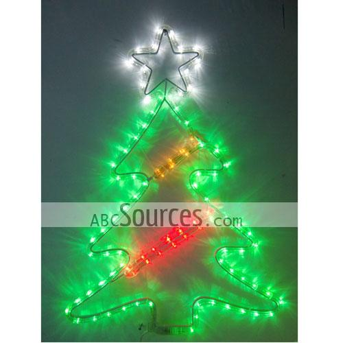 green led christmas tree waterproof decorative lights set