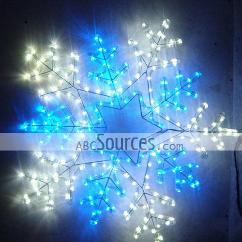 blue and white led snowflake christmas party lights