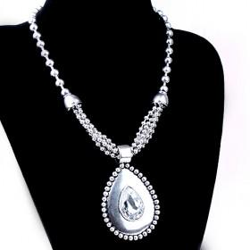 Oval Alloy Necklace