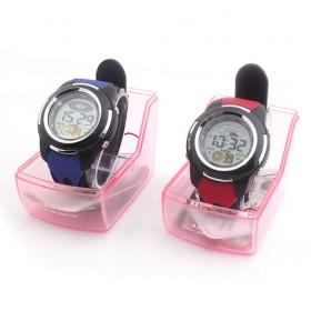 Fashionable Blue And Red Silicon Waterproof Multifunctional Digital LED Sport Watch