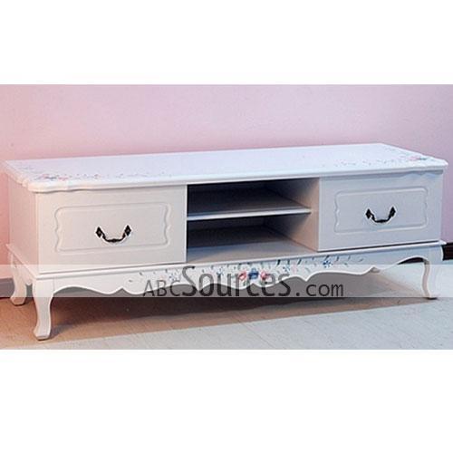 Elegant White Wooden Tv Cabinet Stands Furniture