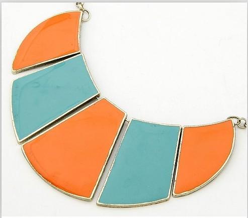 wholesale stylish color match necklace orange blue lf12061304. Black Bedroom Furniture Sets. Home Design Ideas