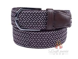 Fabric Leather Elastic Woven Stretch Belt