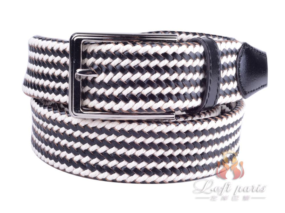 Waved woven belt