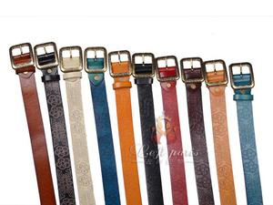 Womens Printing Retro Style Belt with Pin Buckle