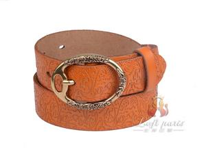 Womens Embossed genuine leather belt