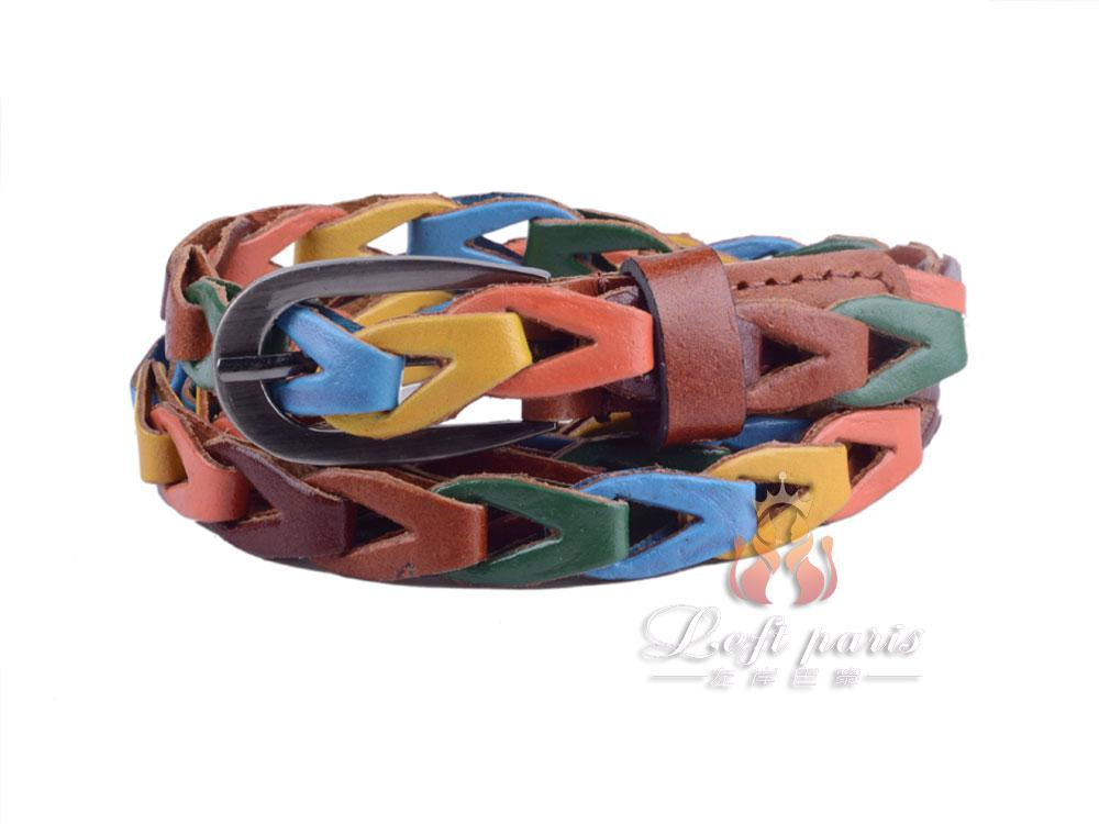 Regenation leather woven belt