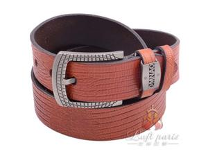 Mens Embossed Leather belt with Pin Buckle