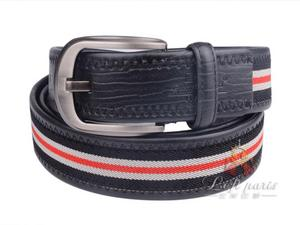 Woven Leather Belt with Pin Buckle