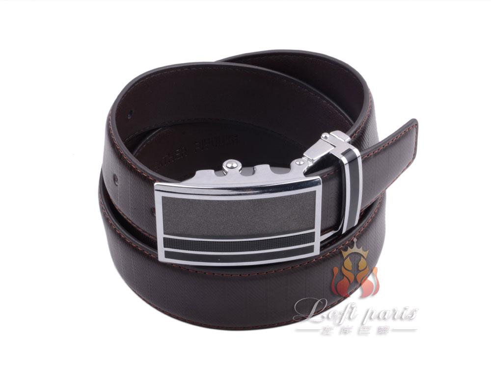 Men genuine leather automatic buckle belt