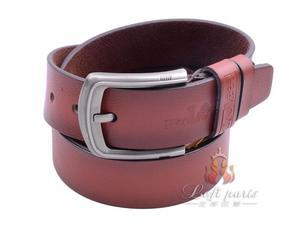 Mens fashion casual leather belt with pin buckle
