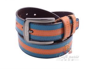 Genuine leather cowhide male belt with pin buckle