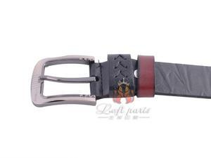 Mens leather fashion pin buckle belt