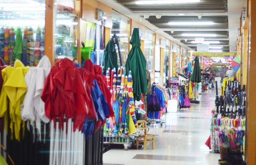 umbrella and rain gear in Yiwu market