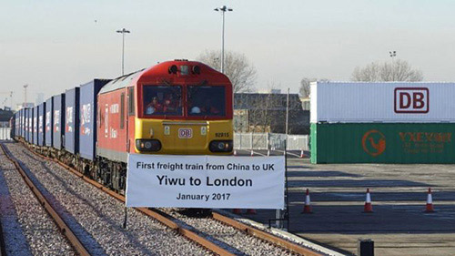 the 1st freight train arrived at Barking station in london on 18th Jan
