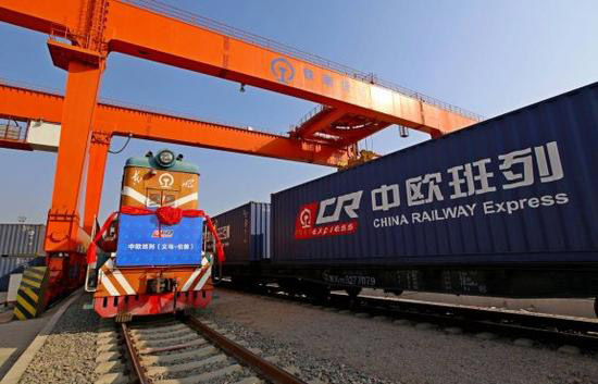 Yiwu to london freight train